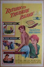 RETURN TO TREASURE ISLAND (1954) - original US 1 Sheet film/movie poster