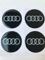 4x 58 mm AUDI Autocollant Emblème pour jantes bouchons de roue Logo Decal