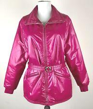 Roffe Womens Vintage Fuchsia Winter Adjustable Belt Ski Jacket Size Medium
