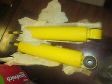 2 ski-doo snowmobile yellow vintage shocks new