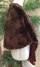 BROWN FUR CAPE SHRUG BY THE HECHT CO. VINTAGE ANTIQUE