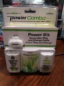 Nyko Xbox 360 Power Kit Combo 2 batteries charge cable charge station