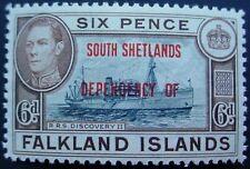 FALKLAND ISLANDS DEPENDENCIES 1944: SOUTH SHETLAND OVERPRINTS;  6d MNH STAMP