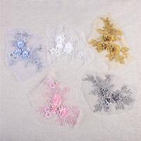 3D Bridal Lace Flower Applique Embroidery Sew on Wedding Dress DIY Embellishment