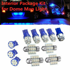 13x Car Interior LED Lights For Dome License Plate Lamp Blue Car Accessories Kit