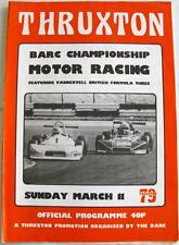 THRUXTON BARC CAMPIONATO 11th MAR 1979 MOTOR RACING PROGRAMMA UFFICIALE