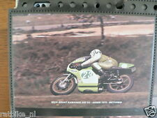 S0519-PHOTO- MICK GRANT KAWASAKI 250 CC ASSEN 1975 NO 23 SPEED 7 SHELL MOTO