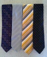 Vintage PIERRE CARDIN '100% Silk' Diagonal stripes / Geo / Polka-Dot Ties x 4