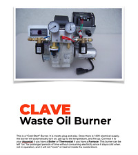 Waste Oil Burner for furnace or boiler very clean burn 120v