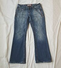 Aéropostale Womens Juniors Jeans Size 5/6 Whiskered Embroidered Distressed 720