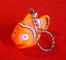 "Finding Nemo Marlin Orange Fish Clownfish Key Chain Ring * Rubber * 2-1/2"" New"