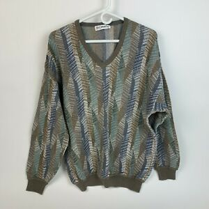 Vintage 90's St Croix Shop Textured Sweater V-Neck Mens Large Made in USA