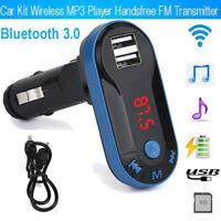 Car USB Remote Bluetooth Wireless FM Transmitter Music Player MP3 Handsfree Kit~