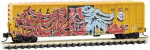 Micro-Trains MTL Z-Scale 50ft Box Year in Railbox 2020 #7 National Tattoo Day