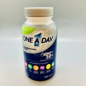 One A Day Men's 50+ Complete MultiVitamin 100 Tablets Exp 8/21+