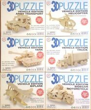 3D Puzzle Vehicle edition wood craft puzzle kit pick 1