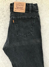 Vintage Levis Regular Fit Denim Jeans! Homme W36/L30! NOIR! ORANGE TAB! 501
