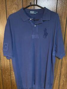 Polo Ralph Lauren men's polo shirt dark blue large tall LT