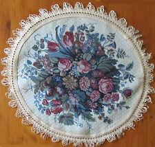 Fabric Table Mat Circular Shape Floral Pattern + 6 Placemats Set Size 7