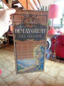Joli Publicité rideau Bambou Japonais du Vin Mousseux Demay-Grémy ses Vouvray