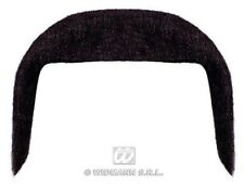 70s Black Handlebar Moustache Tash Mexican Cop Fancy Dress Costume Accessory