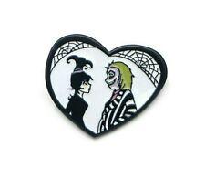 Horror series Hallwoen Enamel Pins Brooch Beetlejuice Pin Lydia Love Heart Ghost