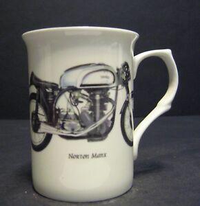 1 Norton Manx Motorbike Fine Bone China Mug Cup Beaker
