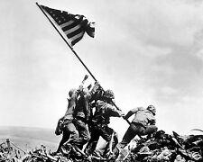 Iwo Jima Flag Raising Battle USA World War 2 WWII 11 x 14 Photo Poster Picture