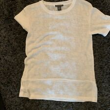 Chelsea and Theodore Petite Womens Blouse Size SP  stretchy White