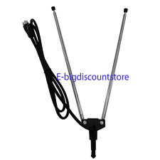 1X Panasonic Type TV Universal UHF Antenna Indoor Rabbit Ear 3ft Coaxial Cable