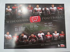 (1) 2014 UNIVERSITY OF WISCONSIN BADGERS 2014 FOOTBALL TEAM SENIOR POSTER 24X18