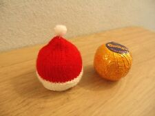 HAND KNITTED SANTA HAT CHOCOLATE ORANGE COVER - LAST 1 AVAILABLE   REDUCED