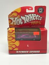 Purple Hot Wheels 1970 PLYMOUTH SUPERBIRD 40th Anniversary 100% Edition Vhtf