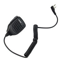 2Pin Handheld PTT Speaker Mic Microphone for BAOFENG Retevis Kenwood TYT WOUXUN