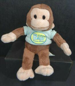 "Curious George Monkey Plush 7"" Blue Shirt Applause"