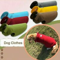 Warm Pet Dog Coat Fleece Jacket Jumper Sweater Hoodie Winter Protector Outfit US