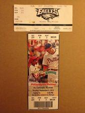 (Lot of 2) Philadelphia Eagles and Phillies old ticket stubs- 1996, 2012