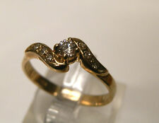 9 carat yellow gold diamond engagement style ring...pre-owned...3.4 mm diamond