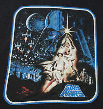 Star Wars Black Tee L Large Luke Leia Darth Vader T Shirt New Hope IV C3PO R2-D2