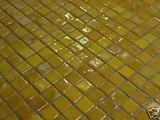 Glasmosaik Fliesen Mosaik PERLMUTT-EFFEKT gelb 1,5x1,5