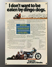 VINTAGE 1973 TX650 YAMAHA SAM LICKLIDER AUSTRALIA TREK DINGO DOG BANNER