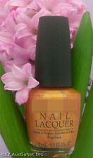 Opi Nail Polish Lacquer 18K Ginza Gold .5 oz Warm Orange Brown Metallic Sparkle