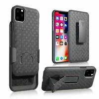 For iPhone 11 Pro Max/ 11 Holster Shockproof Case with Kickstand Belt Clip Cover