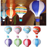 "12""~16"" Paper Lantern Hot Air Balloon  Ceiling Light Shade Bedroom Fun Lamp"