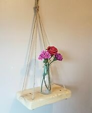 Reclaimed Style Rustic Wooden hanging Shelf. Living Room, Bathroom, Any room