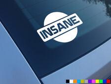 Insane NISSAN AUTO Adesivo Decalcomania Divertente Finestrino Paraurti JDM in Vinile Van Silvia S15 GTR