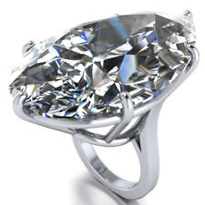 Women 925 Silver Pear Cut White Sapphire Rings Engagement Wedding Jewelry Size 9