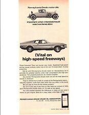 1971 FORD MUSTANG MACH 1 ~ ORIGINAL PRINT AD