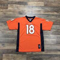 Denver Broncos Peyton Manning #18 Jersey Youth Boys XL 18-20 Orange NFL Football