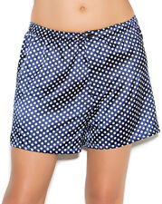 Polka Dot Satin Boxer Shorts Charmeuse Sleep Pajama Unisex Mens Womens Tie  2475 1322de3d3